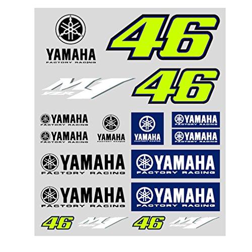 Valentino Rossi VR46 Moto GP M1 Yamaha Factory Racing El Pegatinas Oficial...