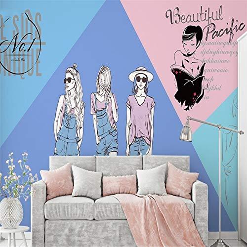 L22LW Wandbild Der Wallpaper Shop Stilvolle Retro Loft Women Clothing Store Wallpaper Wandbilder, 430 cm * 300 cm (H) - Womens Quallen
