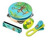 Beluga Spielwaren 67022 Giraffenaffen Instrumente Set 4-Fach, Lern und Experimentierspielzeug