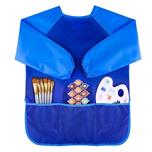 kuuqa-pittura-grembiule-per-bambini-con-3-tasche-vernici-e-spazzole-non-inclusi