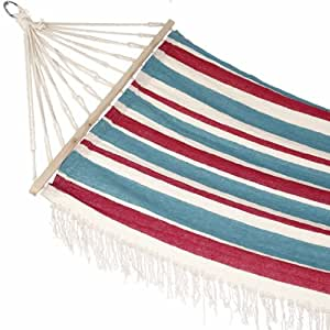 Union Stripe With Fringe Hammock