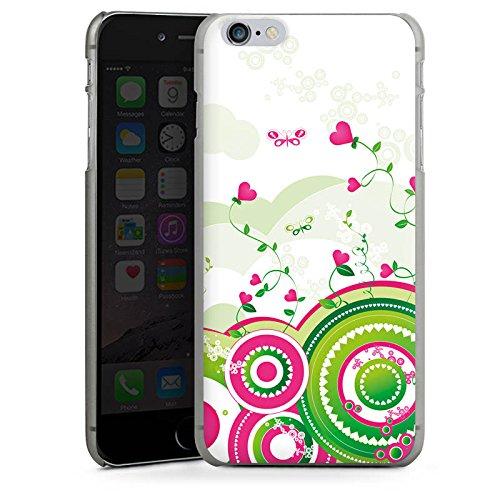 Apple iPhone X Silikon Hülle Case Schutzhülle Herz Bunt herz Hard Case anthrazit-klar