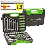 STARKMANN Greenline Socket wrench set Chiave a cricchetto Tool Box Crate Bits Chiave a stella 104pcs