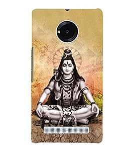 Vishalaksha Shiva 3D Hard Polycarbonate Designer Back Case Cover for YU Yureka Plus