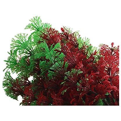 SODIAL(R) Artificial Fish Tank Water Tropical Plastic Aquarium Plants Ornament Green Decor 5