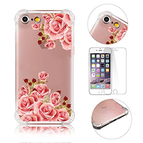 iPhone 7 Coque iPhone 7 Etui iPhone 7 Housse Case Cover,MingKun Ultra-Thin Crystal Clear TPU Silicone Clair Transparente Coque pour iPhone 7 Ultra Mince Premium Transparent Etui pour iPhone 7 Exact Fi Série fleurs-9