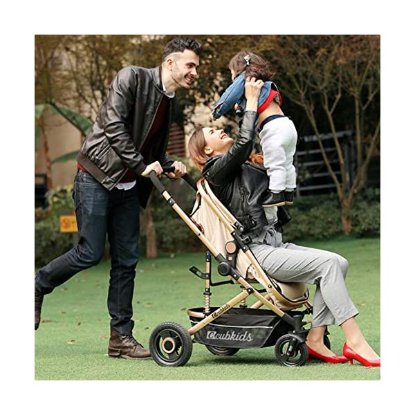 YSH Travel System Baby Stroller Pushchair High View Portable Baby Cart Suitable For Children From 0 To 36 Months /20KG,D-2 YSH Specifications - Stroller for children aged 0-3, standard load capacity 25 kg, maximum load capacity 50 kg, unfolded size 60 x 57 x 100 cm, folding size 80 x 50 x 62cm, net weight 8 kg Function - The stroller can take out the sleeping basket, fold easily, be smaller and easy to carry; adjustable backrest angle can sit or lie flat Features - Stroller can be folded quickly, capacity up to 50 kg / 110 lbs; with shock absorber system for smoother ride, adjustable backrest, comfortable ride, windproof, waterproof, all seasons 5