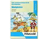 Betzold 89814 - Wortpiraten, Lese-Magnetbox Spiel- und Arbeitseinlagen, liebevoll gestaltet, motiviert zum Lernen, mit Lösungen, DIN A4 - Sprachförderung DaZ Deutschunterricht