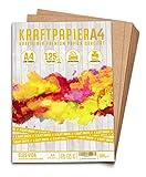 50 Blatt Kraftpapier A4 - 300 g - 21 x 29,7 cm -...