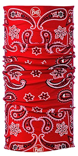 Original Buff Multifunktions-Stulpe/ Schal/Kopfbedeckung, Kaschmir mit Paisley-Muster, Rot -