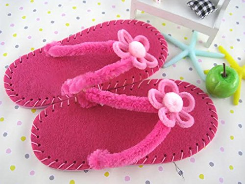 Estes Fun and Creative Hobby DIY Fabric Chappals Making Kit for Children - Ages 8 Years + (Random Colors & Patterns)