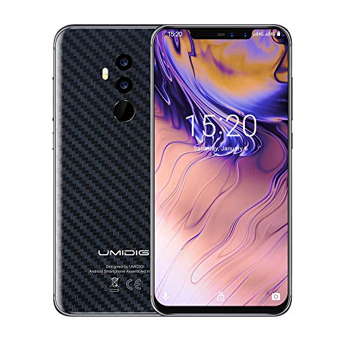 UMIDIGI Z2 SE, Cellulari e Smartphone Android 8.1, Global Bands Dual SIM 4G Telefono Cellulare in Offerta, 6.2'' FHD+ 19:9, Helio P23, 4GB+64GB, Quad Cameras 16MP+8MP, 3850mAh Batteria - Carbon Fiber