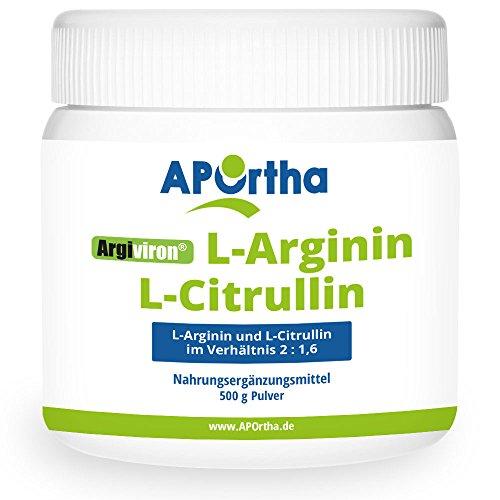 APOrtha L-Arginin + L-Citrullin 2 : 1,6 - 500 g Pulver