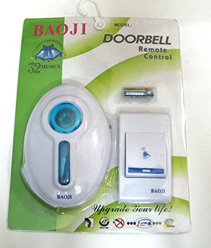 Super-It Wireless Remote Control Door Calling Bell (Multicolor)