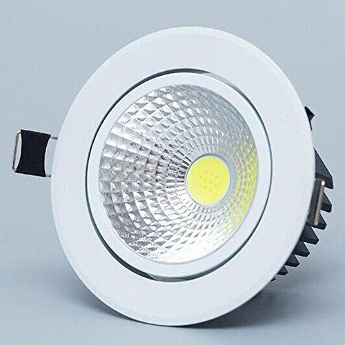 Neilyn Dimmbare LED Downlight Light Cob Decke Spot Licht 3 Watt 5 Watt 7 Watt 12 Watt 85-265 V Deckeneinbauleuchten Innenbeleuchtung (Color : Pure White, Größe : 5w dimmable)