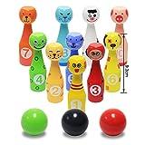 Wisamic mini Bowlingkugel Bowling Holzspielzeug pädagogische interaktive Holzspielzeug Baby Hands-on Fähigkeit entwickeln Kinder Geburtstag Geschenk Sport Fitness Spielzeug