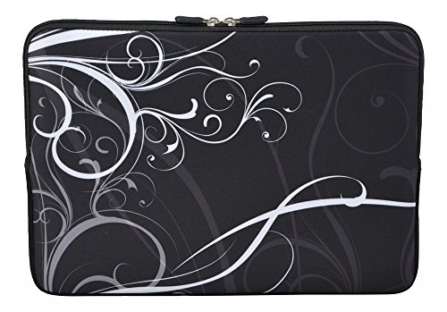 MySleeveDesign Laptoptasche Notebooktasche Sleeve für 10,2 Zoll / 11,6-12,1 Zoll / 13,3 Zoll / 14 Zoll / 15,6 Zoll / 17,3 Zoll - Neopren Schutzhülle mit VERSCH. Designs - Fancy White [11-12]