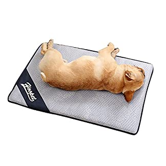 Aolvo Cooling Pad/Mat/Bed for Dogs & Cats, Extra Large – Non Toxic, Non Sticking, Skin-Friendly, Keep Pets Cool, Prevent Overheating & Dehydration – Comfortable Cool Stuff for Pet (47″ X 29″) 51US3LEtTCL