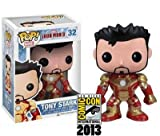 FunKo – SDCC 2013 Pop 3 Iron Man Mark 42 Démasqué Tony Stark Figurine