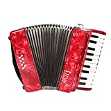 ammoon 22 Teclas 8 Bajo Acordeón para Piano con Correas Guantes Paño de Limpieza Instrumentos Musicales para Estudiantes Principiantes Niños