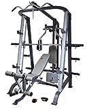 AsVIVA MS2 Profi Kraftstation und Power Multipresse - Multi-Gym Weight Bench mit Latzug, Beinpresse, Beincurl und verstellbare Schrägbank effektives Muskeltraining, Krafttraining, Hantelbank für zu Hause