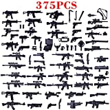 MAJOZ 375St. Mini Military Waffen und Zubehör Set SWAT Team Polizei Soldaten Mini Figuren, Mini Modell Figuren Militär Bausteine Spielzeug für Kinder , Kompatibel mit Lego