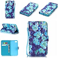 nancen Apple iPhone 5/5S/Si (4,0pollici) Cover, Colorful alto Qualità Portafoglio