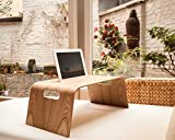 WOOD U? CHILL - Halterung für iPad und Tablet für Bett und Sofa für iPad 2,3,4 und ähnliche Modelle - Betthalterung aus Holz