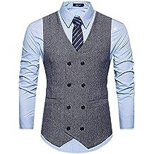 dffdeaf5bc GOMY Herren Weste Anzug Slim Fit Modern Smoking Sakko Herrenweste Elegant