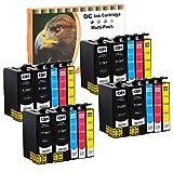 D&C 20Set Tintenpatronen Druckerpatronen kompatibel für Epson T1301-T1304 für Stylus Office BX525,BX535,BX625,BX635,BX925,BX935,SX525, SX535,SX620,WorkForce 3010,WF3520,WF3530,WF3540,WF7515, WF7525