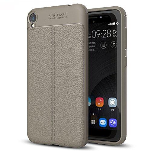 ASUS ZenFone Live ZB501KL Hülle, Ultra Slim Weiche Litchi Texture TPU Silikon Handyhülle Schutz vor Stürzen und Stößen Schutzhülle für ASUS ZenFone Live ZB501KL Smartphone, Litchi Grau