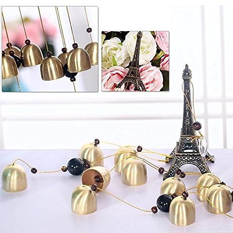 Dairyshop 5Bells Bronze Tour Eiffel Wind Chimes, cour Jardin extérieur Living Decor Cadeau NEUF