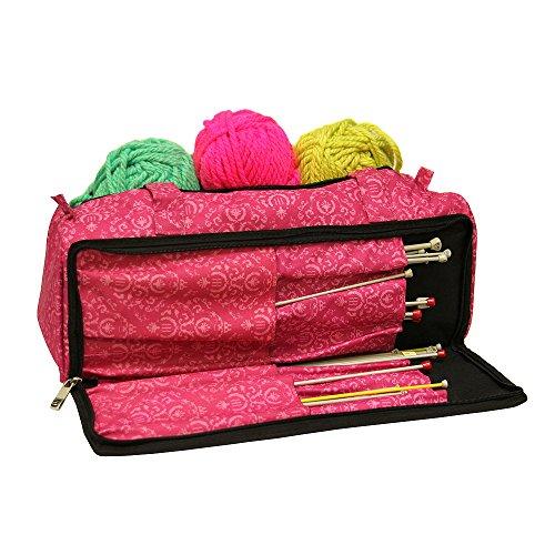 Strick-Tasche, Näh-Zubehör und Handwerk Nadel Speicher Organizer Fall In Imperial Pink