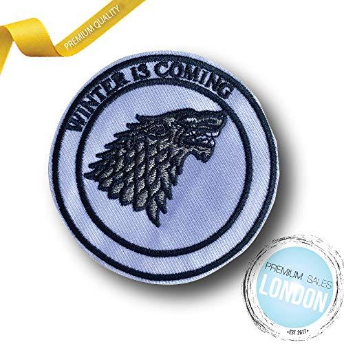 PSL Stark - Parche planchar diseño lobo gris