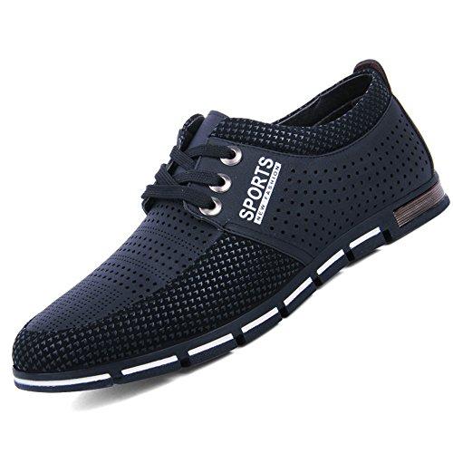 CUSTOME Hommes Cuir Chaussures Appartement Doux Respirant De Plein air Poids Léger Décontractée Exercice Chaussures