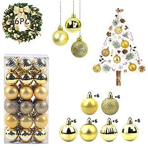 WELLXUNK Bolas de Navidad, 36