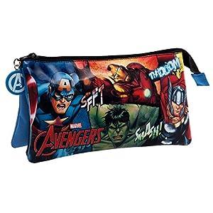 Marvel Avengers Neceser de Viaje, 1.32 litros, Color Negro