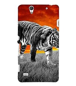 PrintVisa Designer Back Case Cover for Sony Xperia C4 Dual :: Sony Xperia C4 Dual E5333 E5343 E5363 (Tiger in A Field)