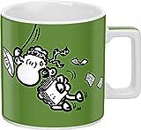 Sheepworld 44061 Tasse Wortheld ?Mein Job ist auch so eine Art Dschungelprüfung!? Porzellan, grün -