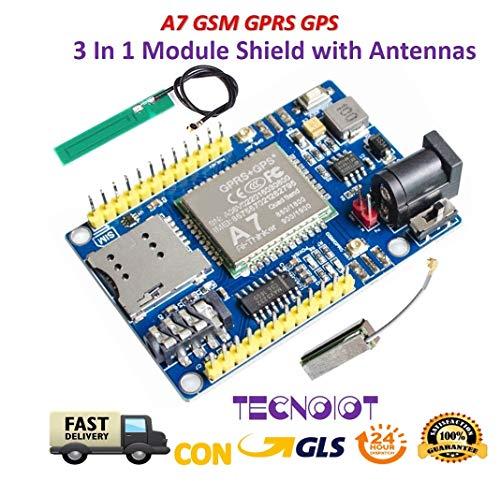 A7 GSM GPRS GPS 3 In 1 Module Shield DC 5-9V STM32 51MCU Support Voice Message |A7 GSM GPRS GPS 3 in 1 modulo Shield DC 5-9V STM32 51MCU Supporto Messaggio vocale