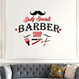 Hwhz 46X60 cm Barber Shop Sticker Name Chop Bread Decal Haircut Shavers Posters Vinyl Wall Art Decals Decor C