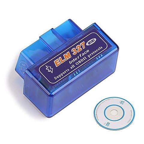 Erisin Mini OBD2ELM327V1.5Bluetooth Voiture de diagnostic scanner Couple Android Outil d