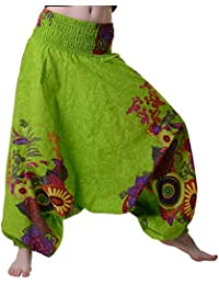 Damen Haremshose in sommerlichem Design - Blumenmuster