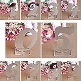 0-9 Anzahl Dekoration Acryl Spiegel Silber Anzahl Hochzeit Sitz Kartennummer Dekoration Hochzeit Dekoration