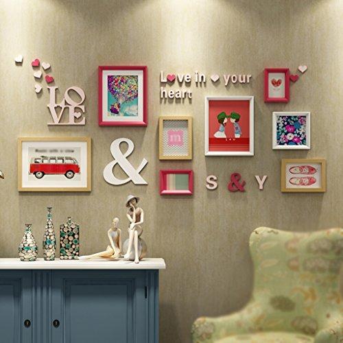 Asl Solide Holzrahmen Wand Wand Wohnzimmer Tapete, die Geschenke von Hochzeit Photo Wall Wall Rahmen...