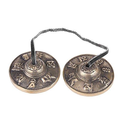Buddhismus handgefertigt Messing Finger Becken Glocken, tibetische Bell buddhistischen Religiösen Musical Apparat, 65mm Yoga Meditation Tingsha Bell Chimes Becken Set