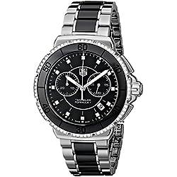 TAG Heuer Formula 1 - Reloj (Reloj de pulsera, Femenino, Cerámico, Acero, Negro, Acero inoxidable, Cerámico, Acero, Negro, Acero inoxidable)