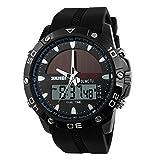 SunnyJenny Orologio da polso da uomo, stile militare, Solare Orologio,Orologi sportivi digitali multifunzione portato orologio-50m Water Resistant