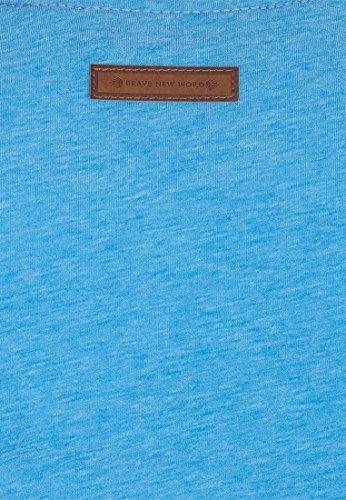 Naketano Male Sweatshirt Italienischer Hengst Langen V Sky Blue Melange