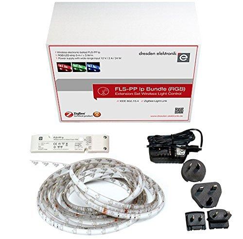 Preisvergleich Produktbild Erweiterungsset für funkgesteuerte Beleuchtung (ZigBee Light Link) , 3m RGB LED Streifen und Netzteil